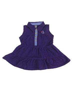 Zara Kids Baby Girls Pleated Dress With Floral Crest