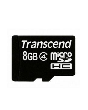 Transcend 8GB Micro SDHC Memory Card - Black
