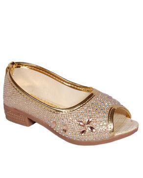 Viny Girls Dress Shoes- Gold