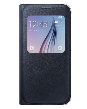 Belkin Leather Cover For S6 Edge Plus - Black