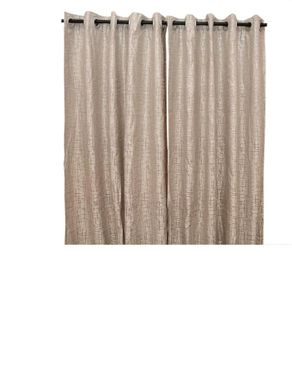Jason Patrick Silver Matrix Eyelet Curtain - Grey