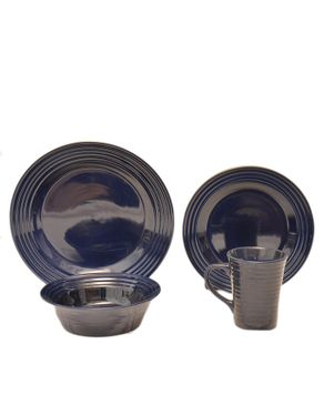 Baum 16 Piece Dinnerware Set - Blue