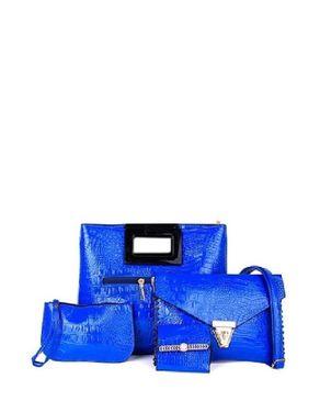 VISION FILL 4 in 1 Crocodile Pattern Handbag - Blue