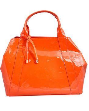 Viflan Orange Patent Bag