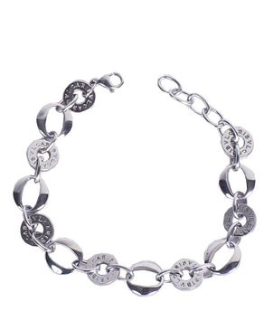 Universal Sterling Silver Braided Oval Link Chain Link Bracelet