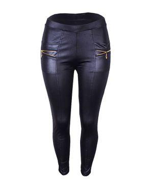 Fashion Smart Fit Leather Trouser-Black