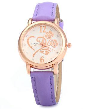 sloggi Womens Quartz Wristwatch Steel Stainless -Purple