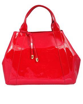 Viflan Patent Handbag - Red