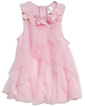 Fashion Mesh Baby Girls Dress - Pink