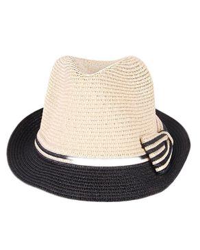 Fashion Unisex Crafted Straw Hat-cream