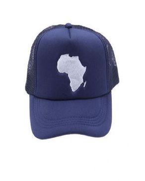 Fashion Unisex Africa Print Face Cap - Blue