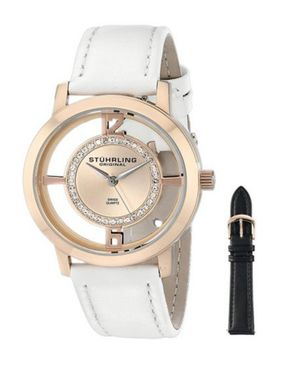Stuhrling Original Womens 388L2.SET.03 Analog Winchester Watch with Interchangeable Strap