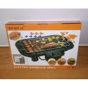 2000W Smokeless Electric Barbeque Grill BBQ Griddle Meat Be
