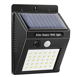 30 LED Lamp Beads Induction Solar Charging Wall Lamp