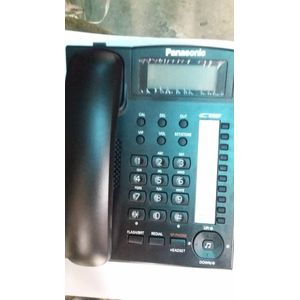 Panasonic PABX INTERCOM Single Line KX-TS880MX Intercom Corded Phone. With Caller ID,Hands-Free Speaker Out,Wall Mount,Dial Lock - BLACK