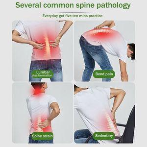 Back Magic Massager Stretcher Stretching Magic Lumbar Waist Back Support Neck