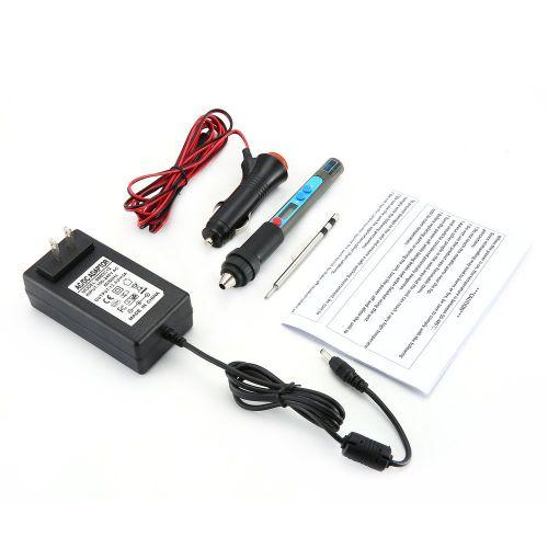 PX-988 LED DC12V 40W Soldering Iron Handle Lighter Socket With Tips Blue & Black