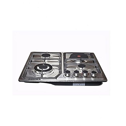 60 Cm Stainless Steel 3 Gas 1 Electric Cooker