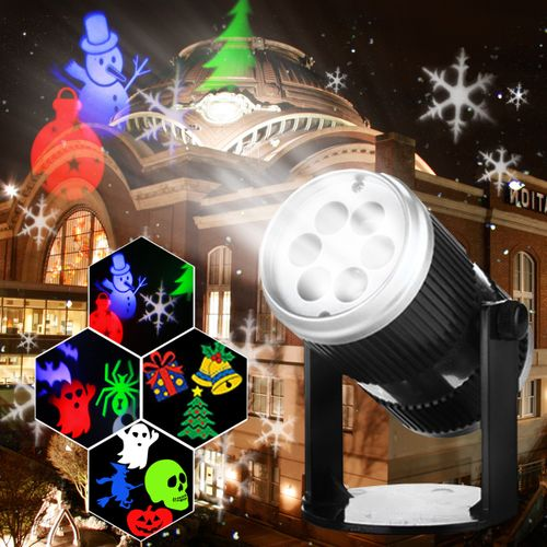 Halloween Christmas Sparkling LED Night Light Laser Projector Party Lamp Decor