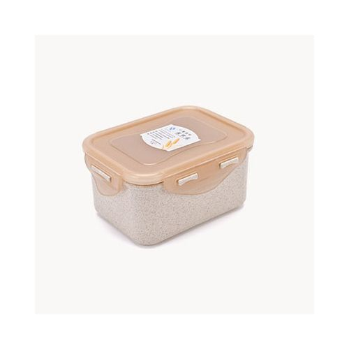 Mrosaa 1PC Wheat Straw Fiber Lunch Box Refrigerator Microwavable Food Storage Container Leakproof Reusable Tableware Gift