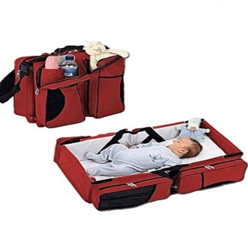 Multipurpose Red Baby Bed And Bag