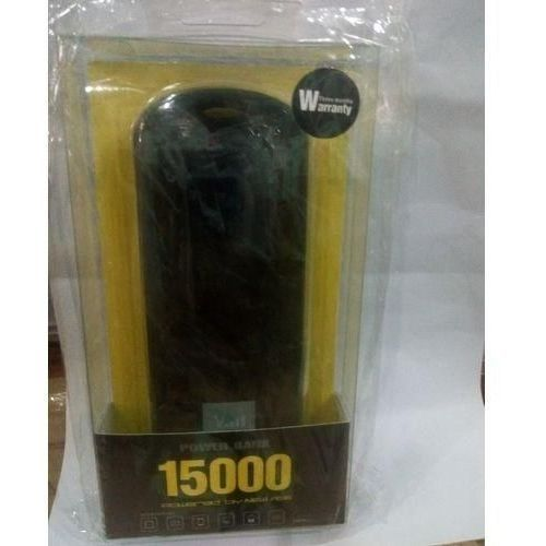 New Age Virgin Power Bank 15000mah With Free USB CABLE - BLACK