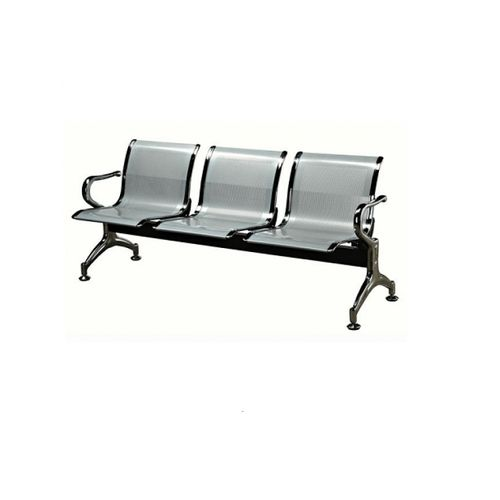 3 Seater Reception Metal Bench-Grey(LAGOS ONLY)
