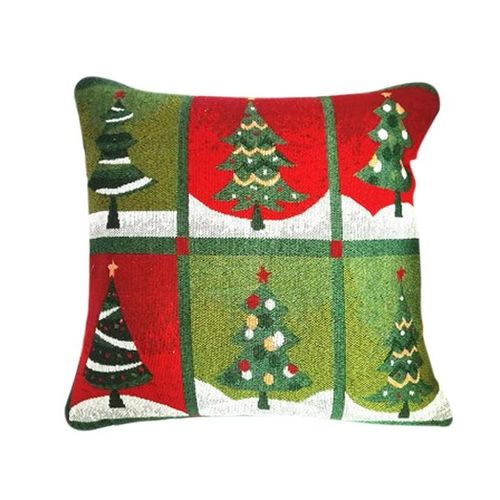 Houseworkhu Christmas Sofa Bed Home Decoration Festival Pillow Case Cushion Cover - Multicolor