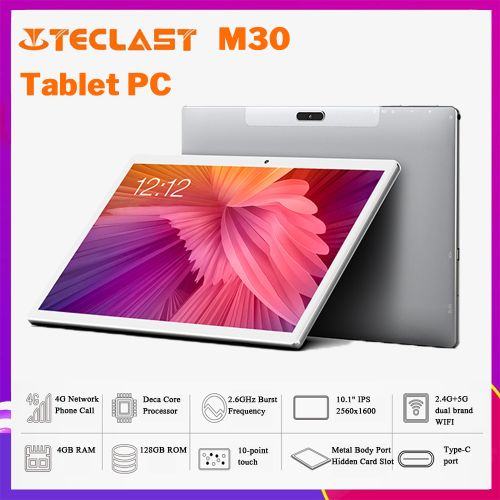 """M30, Helio X27 10 Core,7500mAh,4G RAM+128G ROM 10.1"""" 2.5K Screen Android 8.0 ,OS 4G Phablet Tablet PC"""