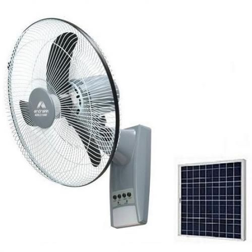 Rechargeable 16'' Wall Fan With Remote + Free Solar Panel