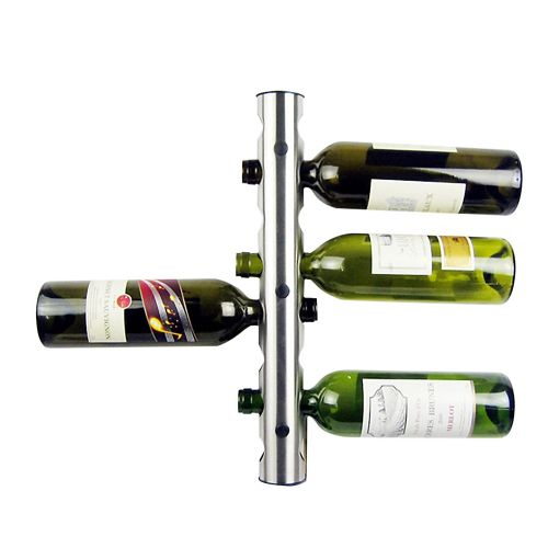 Creative Wine Rack Holder 8 Holes Home Bar Wall Vertical Wine Bottle Stand