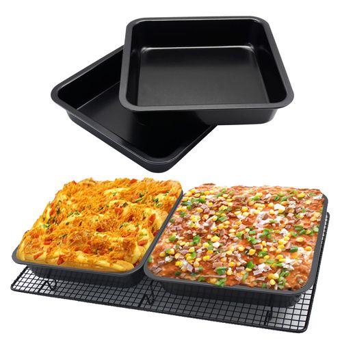 Mini Square Cake Pan 8 Inch Cake Baking Pan Non-Stick Bakeware Cake Make Pan -Black