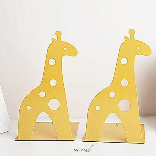 Giraffe Elephant Tinplate Book Creative Book Shelves # Yellow