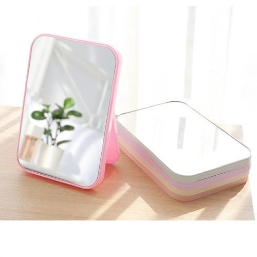 Folding Table Mirror Dressing Mirror Portable Makeup Portable Mirror White