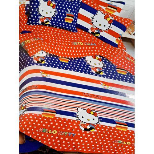 Cartoon Bedsheet With Pillow Cases