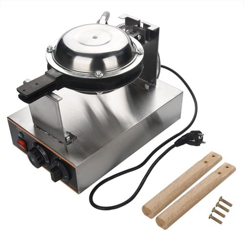 220V Electric Egg Cake Oven Puff Bread Maker Stainless Steel Kitchen Egg Cake Machine