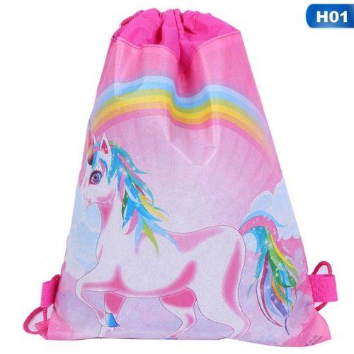Unicorn Fabric Backpack Drawstring