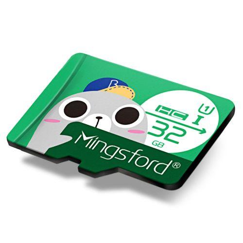 Mingsford 8G / 16G / 64G / 128G Micro SD / TF Card-GREEN
