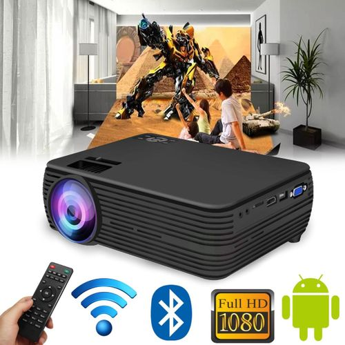 X5 LCD Projector Android4.4/6.0 Wifi Bluetooth