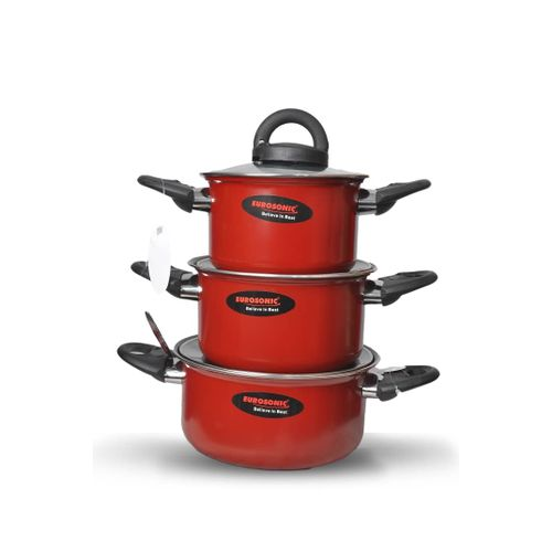 3 Set Of Quality Eurosonic Pot( Red)