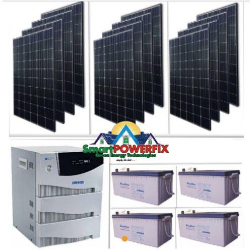 Solar Powered 4kva Inverter With 4Gaston Batteries