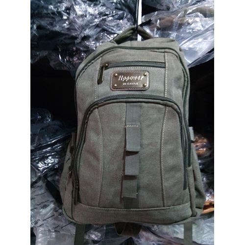 Khaki Durable Laptop/School Bag- Green