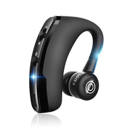 V9 In-Ear Sweatproof Noise Cancelling Bluetooth Earphone- Black