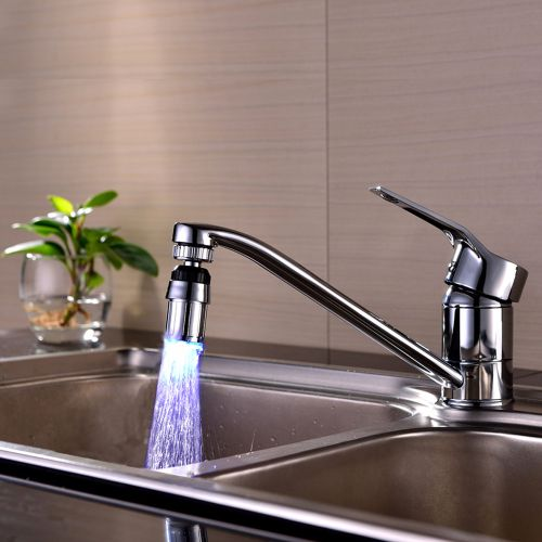 Simple Kitchen Sink 7Color Change Water Glow Water Stream Shower LED Faucet Taps Light