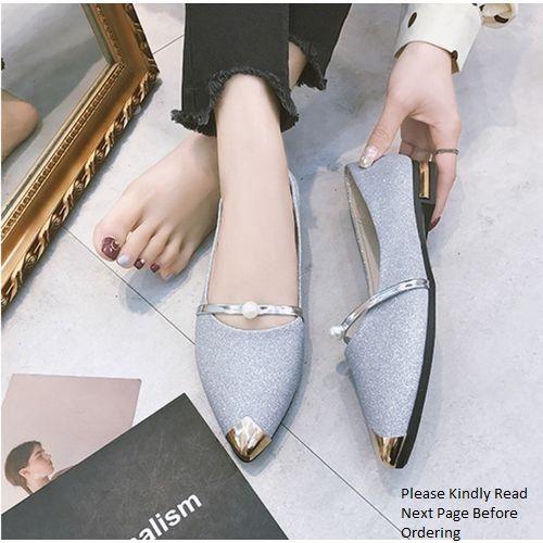 Women's Classy Pointer Shoe -Silver