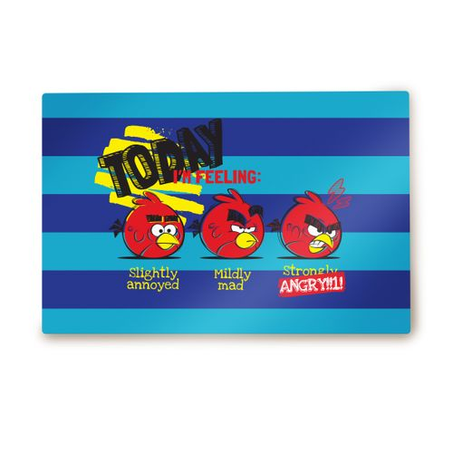 Angry Birds: Today's Feeling Metallic Poster Pure White