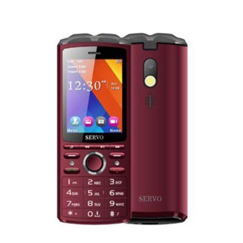 """2.8 Mobile Phone Dual SIM Card Wireless Earphones 6000mAh Power Bank"""" Claret"""