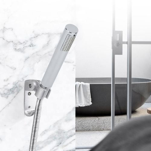 2pcs Handheld Cylinder Shower Head Sprayer Spraying Hose Set Bathing Accessories Hardware Replacement