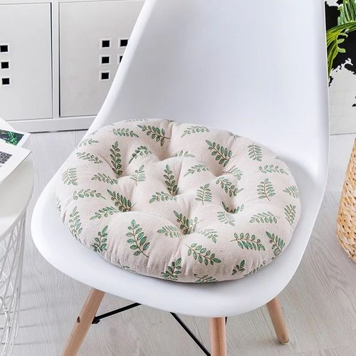 Cotton Linen Dining Chair Seat Round Sofa Throw Cushions