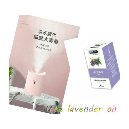Ultrasonic Air Humidifier Aroma Diffuser With LED Night Lamp
